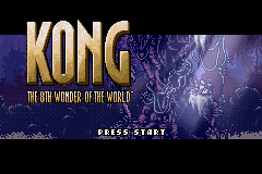 Kong The 8th Wonder of the World GBA Screenshot Screenshot 1