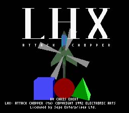 LHX Attack Chopper Genesis Screenshot Screenshot 1