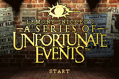 Lemony Snicket's A Series of Unfortunate Events GBA Screenshot Screenshot 1