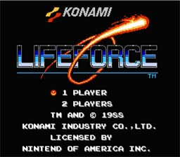 Life Force NES Screenshot Screenshot 1