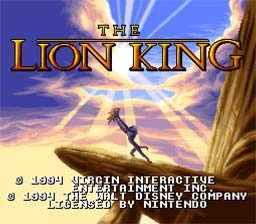 Lion King Super Nintendo Screenshot 1