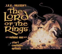 Lord of the Rings Volume 1, The SNES Screenshot Screenshot 1