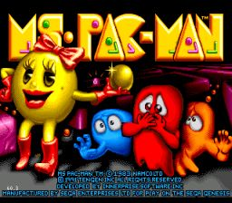 Ms. Pac-Man Genesis Screenshot Screenshot 1