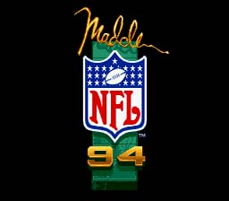 Madden NFL 94 Genesis Screenshot Screenshot 1