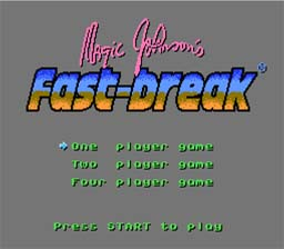 Magic Johnson's Fast Break NES Screenshot Screenshot 1