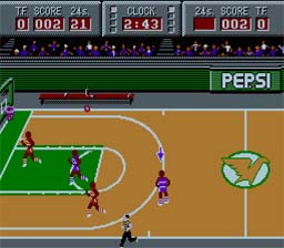 Magic Johnson's Fast Break NES Screenshot Screenshot 2
