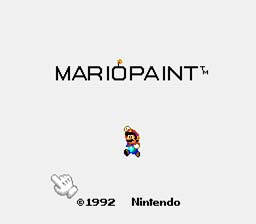 Mario Paint SNES Screenshot Screenshot 1