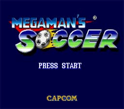 Mega Man Soccer SNES Screenshot Screenshot 1