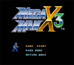 Mega Man X 3 SNES Screenshot Screenshot 1