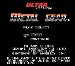 Metal Gear NES Screenshot Screenshot 1