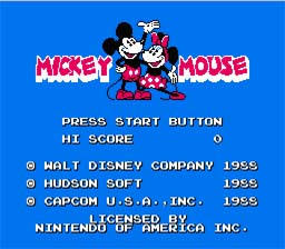 Mickey Mousecapade NES Screenshot 1