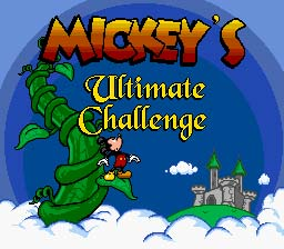 Mickey's Ultimate Challenge Sega Genesis Screenshot 1