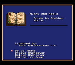 Might and Magic: Gates to Another World Sega Genesis Screenshot 1