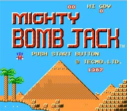 Mighty Bomb Jack NES Screenshot Screenshot 1
