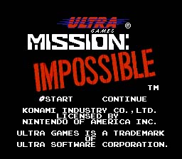 Mission Impossible NES Screenshot Screenshot 1
