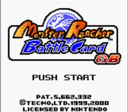 Monster Rancher Battle Card GB GBC Screenshot Screenshot 1