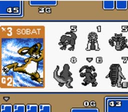 Monster Rancher Battle Card GB GBC Screenshot Screenshot 2