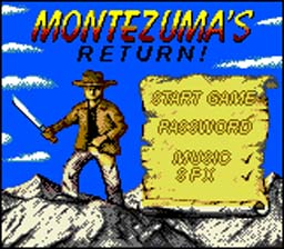 Montezuma's Return GBC Screenshot Screenshot 1