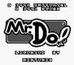 Mr. Do! Gameboy Screenshot Screenshot 1