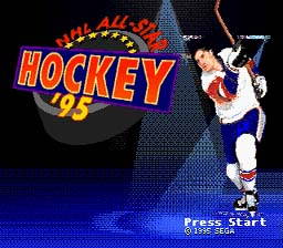 NHL All Star Hockey '95 Genesis Screenshot Screenshot 1