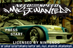 Need For Speed Most Wanted GBA Screenshot Screenshot 1