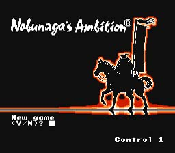 Nobunaga's Ambition NES Screenshot Screenshot 1