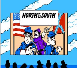 North And South NES Screenshot Screenshot 1