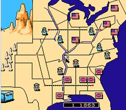 North And South NES Screenshot Screenshot 2