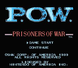 POW NES Screenshot Screenshot 1