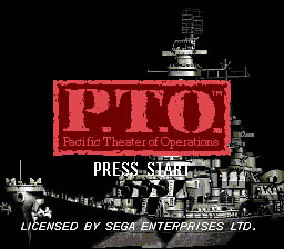 Pacific Theater of Operations Sega Genesis Screenshot 1