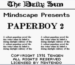 Paperboy 2 Gameboy Screenshot 1