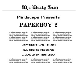 Paperboy 2 NES Screenshot 1
