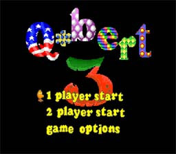 Q* Bert 3 SNES Screenshot Screenshot 1