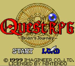 Quest RPG Brian's Journey GBC Screenshot Screenshot 1