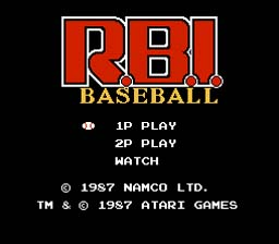 RBI Baseball NES Screenshot Screenshot 1