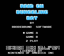 Raid on Bungeling Bay NES Screenshot Screenshot 1