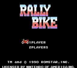 Rally Bike NES Screenshot Screenshot 1