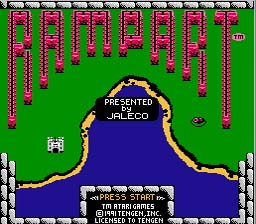 Rampart NES Screenshot 1