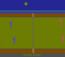 RealSports Volley Ball Atari 2600 Screenshot Screenshot 1