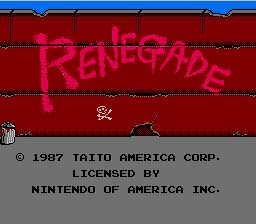 Renegade NES Screenshot Screenshot 1