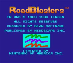 Road Blasters NES Screenshot Screenshot 1