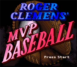 Roger Clemens' MVP Baseball SNES Screenshot Screenshot 1