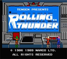 Rolling Thunder NES Screenshot 1