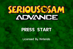 Serious Sam GBA Screenshot Screenshot 1