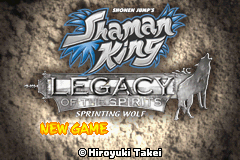Shaman King Legacy of the Spirits Sprinting Wolf GBA Screenshot Screenshot 1