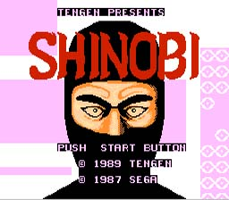 Shinobi NES Screenshot 1