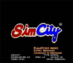 SimCity SNES Screenshot Screenshot 1