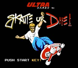 Skate or Die NES Screenshot Screenshot 1