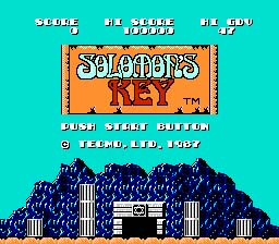 Solomon's Key NES Screenshot Screenshot 1