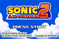 Sonic Advance 2 GBA Screenshot Screenshot 1
